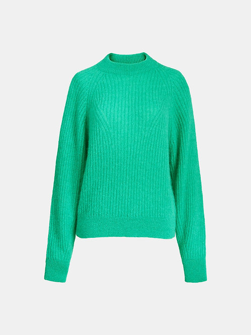 Pull tricot vert