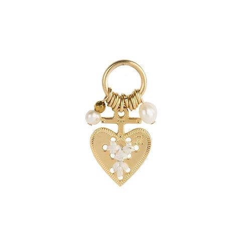 Amulette coeur blanc
