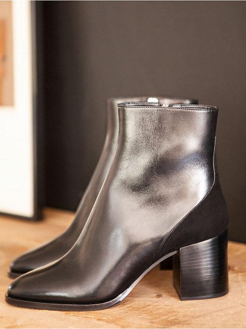Bottines n°660 cuir noir