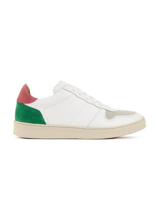 Basket n°12 Blanc/Blush/Vert