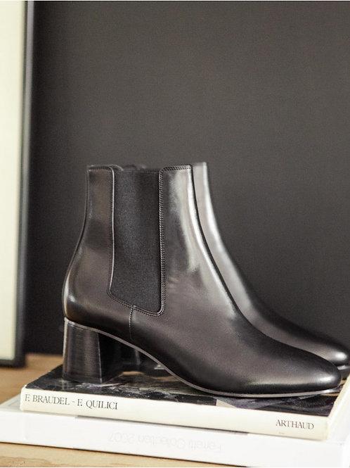 Bottines n°402 cuir noir