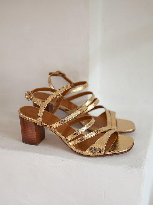 Sandales n°653 dorées