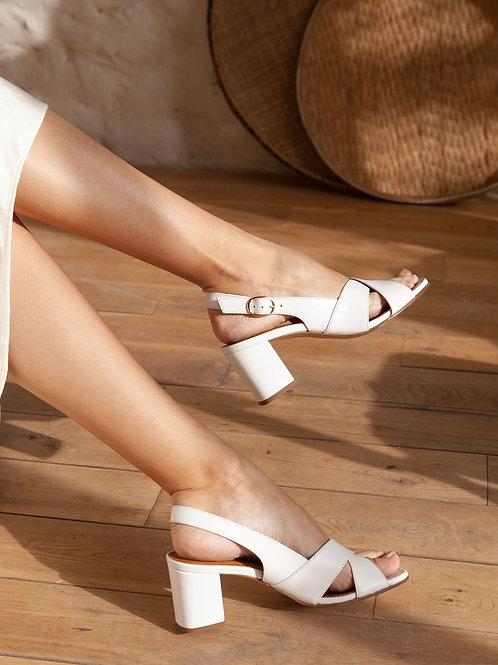Sandales n°652 blanche
