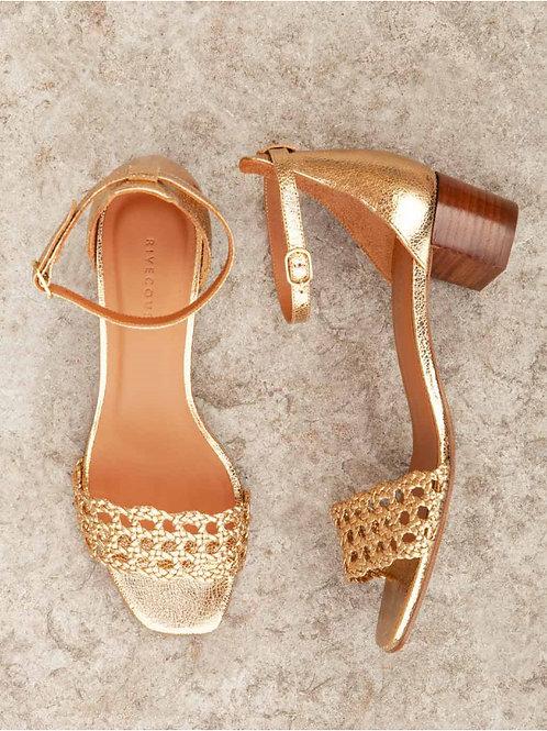 Sandales n°890 doré