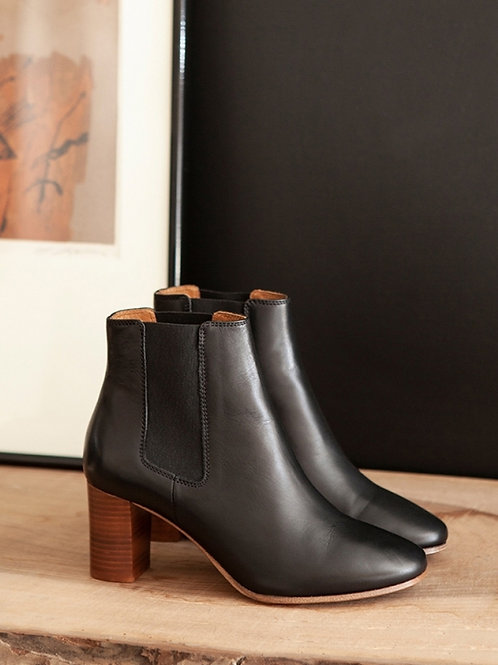 Bottines n°292 cuir noir