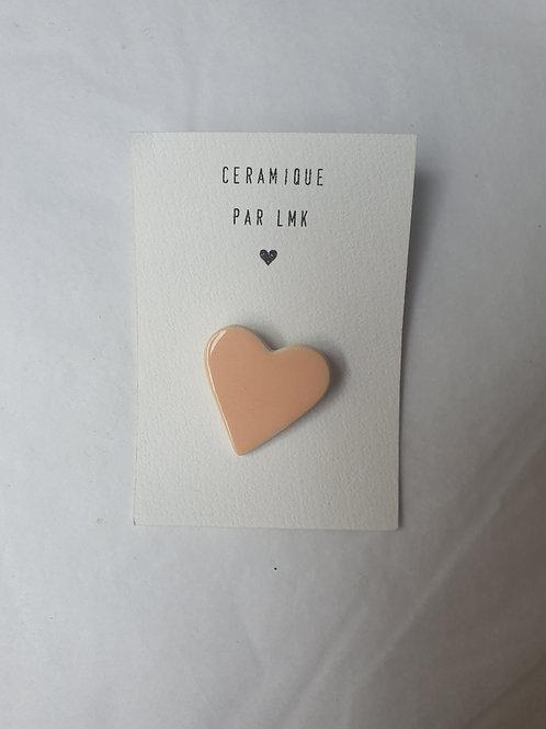 Broche coeur rose pâle