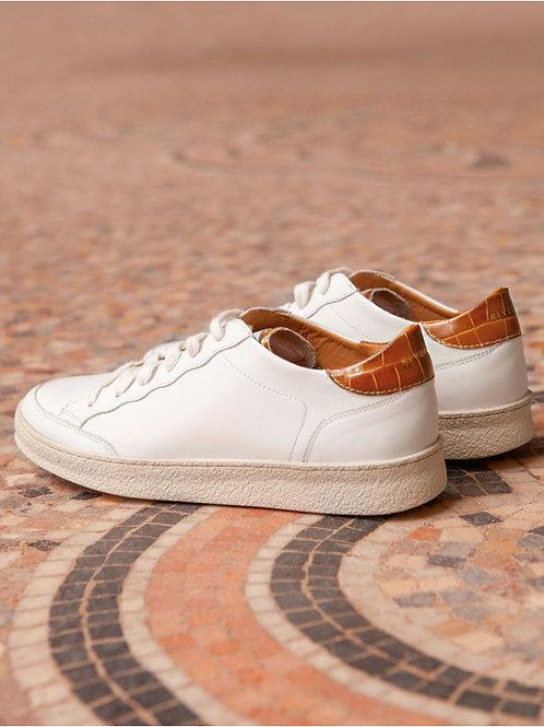 Basket Blanc / Croco Havane