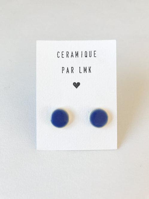 Puces céramique bleu