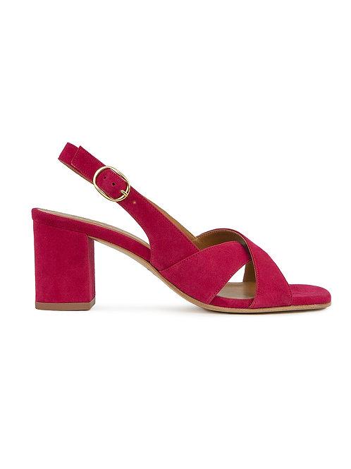 Sandales n°652 framboise