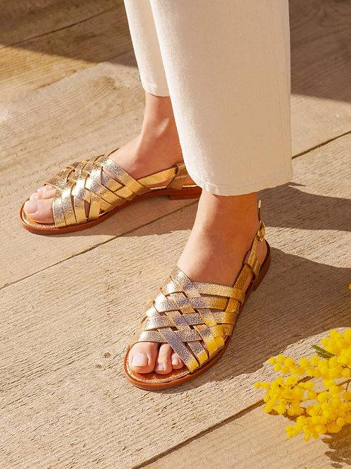 Sandales n°63 dorées