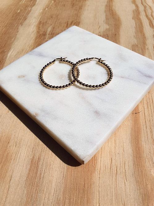 Grandes créoles perlées