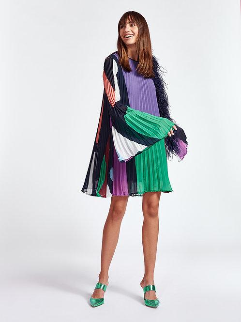 Robe plissée motif