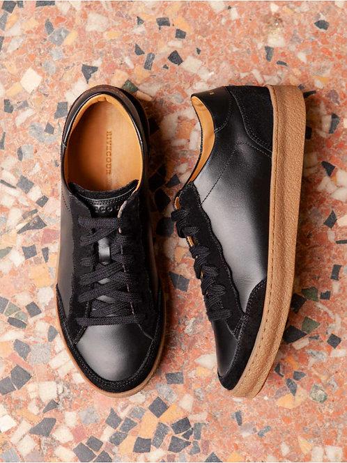Baskets cuir noir n°14