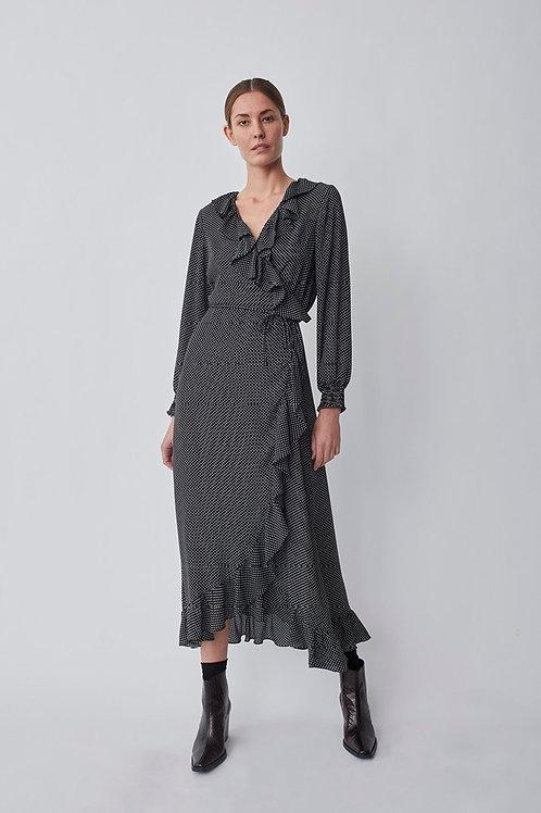 Maxi robe noire et blanche