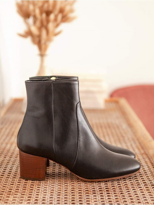 Bottines n°298 cuir noir