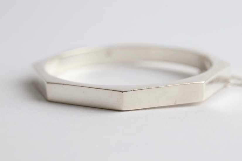 sterling silver octogonal bangle