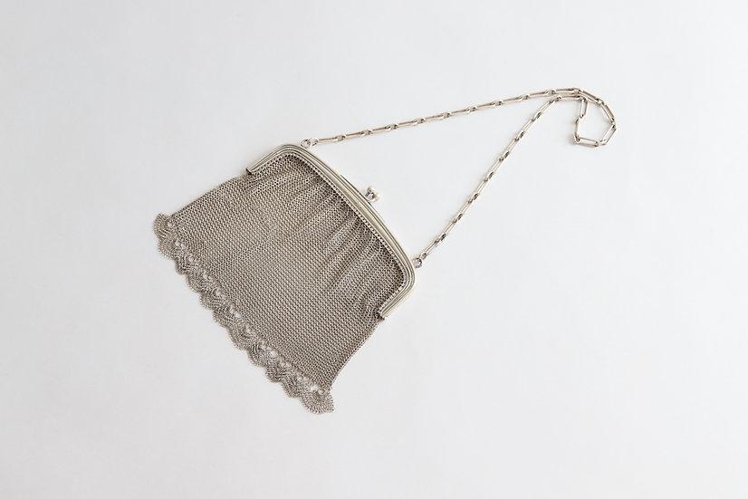 antique silver mesh bag