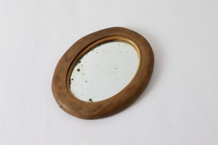 mercure wooden oval mirror