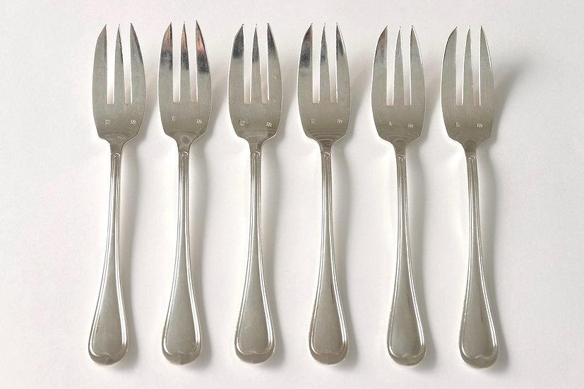 silver plate gateaux fork/D