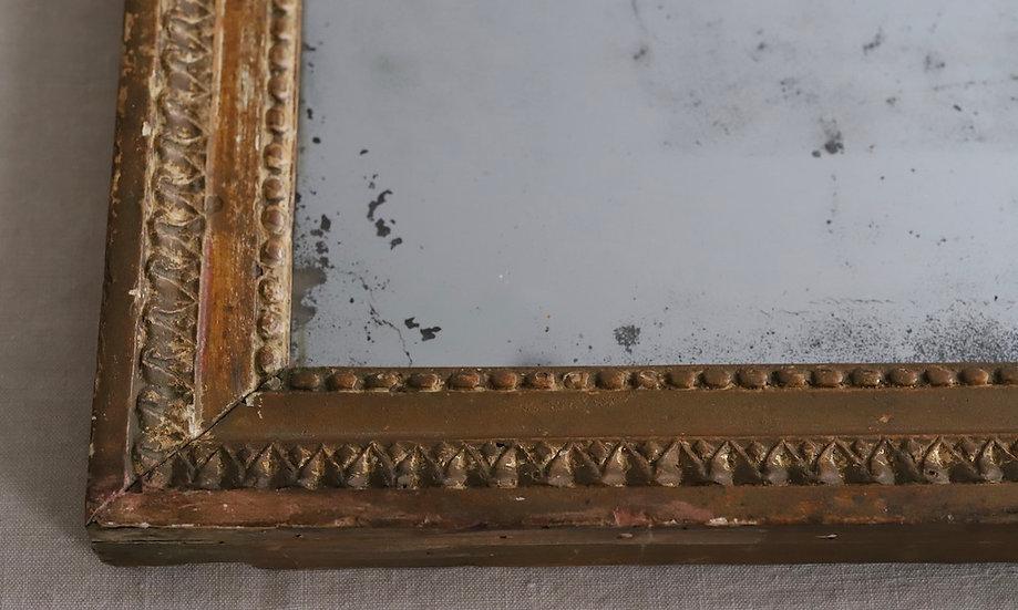 antique  gilt plaster mirror