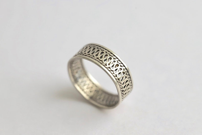 sterling silver openwork ring