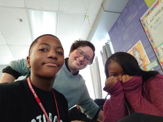 Photobombing student selfies!
