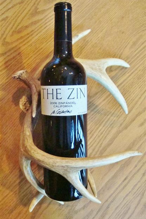 Wine Bottle Antler Rack