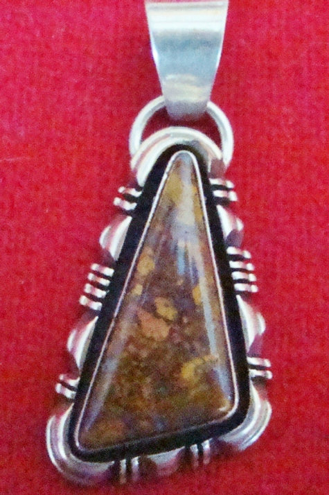 Fossil Shell Pendant By Yazzie