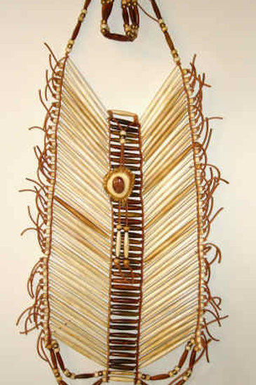 Bone and Horn Breast Plate With Choker