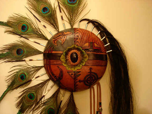 Large Wall Hanging Kachina Gourd