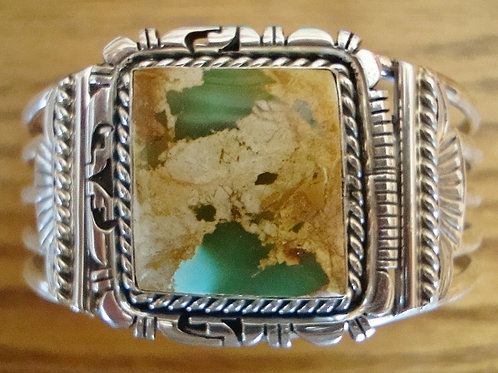 Large Boulder Turquoise Sterling Silver Cuff