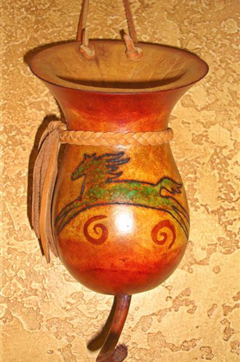 Horse Wall Vase Gourd