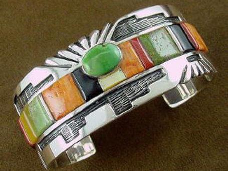 Spectacular Multi Stone Cuff Bracelet