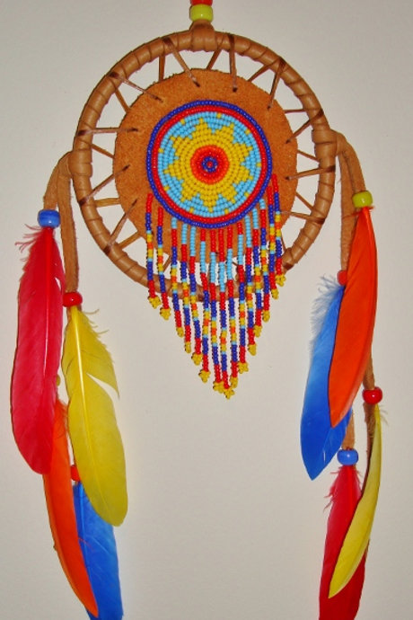 Colorful Beaded Medicine Wheel