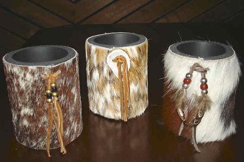 Cowhide Coolie Cups