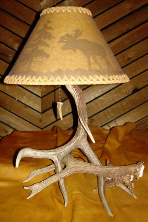 Non Typical Deer Antler Lamp