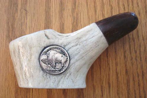 Large Antler, Horn & Real Buffalo Nickel Pipe