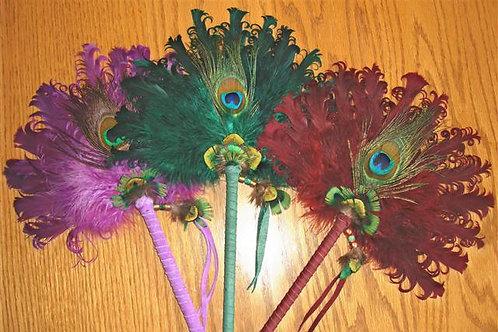 Peacock & Duck Feather Fan