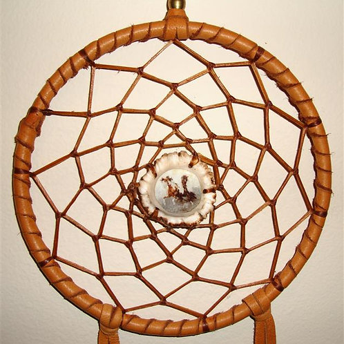 Another Dream Catcher With An Antler Rosette