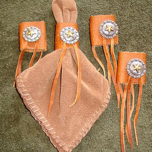 Leather & Star Concho Napkin Rings