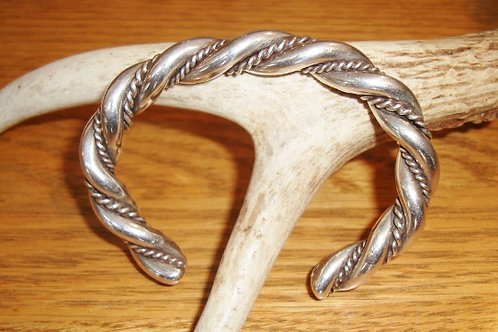Heavy Twisted Beautiful Sterling Silver Cuff