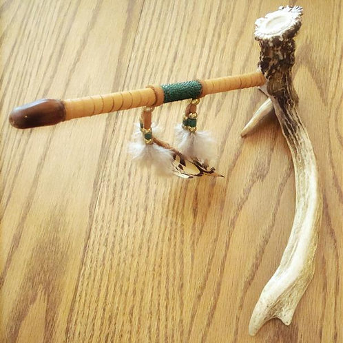 Non Typical Antler & Steer Horn Peace Pipe