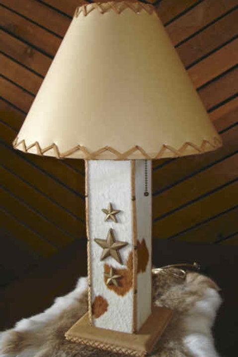 Real Cowhide & Buckskin Lamp