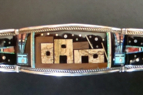 Stunning Inlay Cuff By Ray Jack