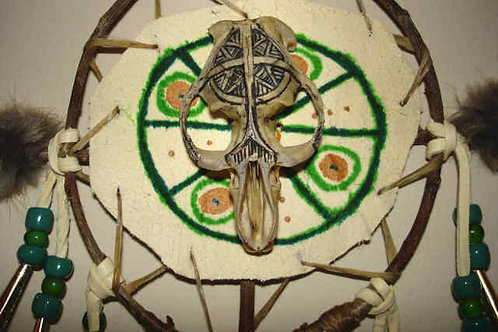 Muskrat Skull Spirit Shield