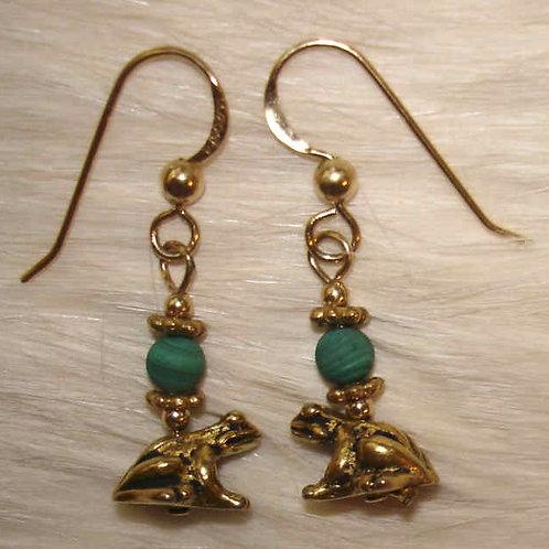 Inlaid Turtle Earrings