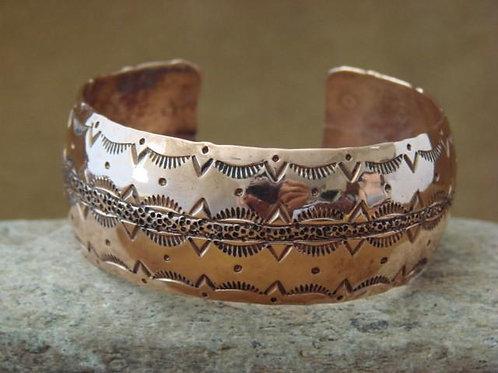 Navajo Stamped Copper Cuff