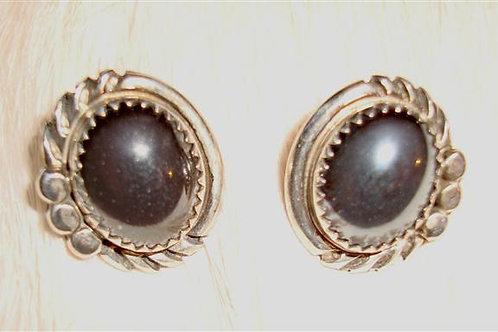 Hematite Post Earrings