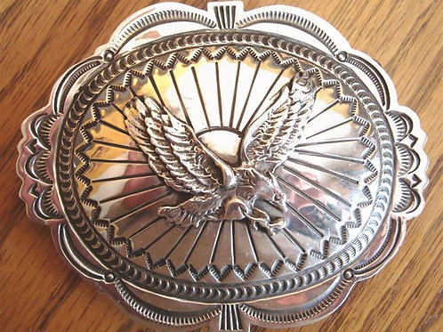 Wonderful Sterling Silver Eagle Belt Buckle