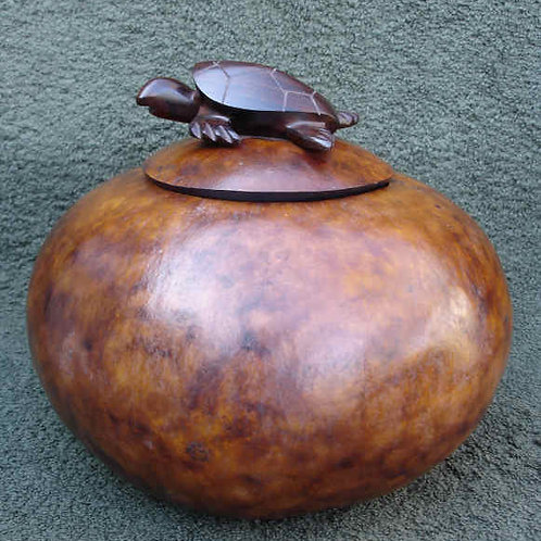 Iron Wood Turtle Gourd Lid